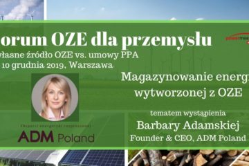 Barbara Adamska podczas Forum OZE dla przemysłu